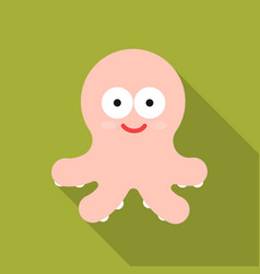 Octopus flat icon for web and mobile vector