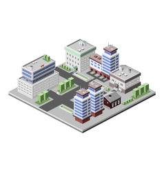 Office buildings isometric vector image