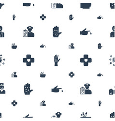 Pain icons pattern seamless white background vector