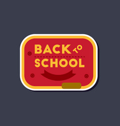 Paper sticker on stylish background back to school vector