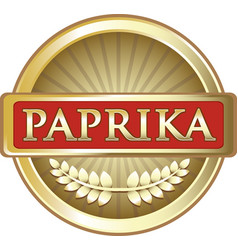 Paprika gold icon vector