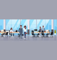 People meeting in co-working office fat obese vector