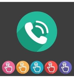 phone telephone flat icon vector image