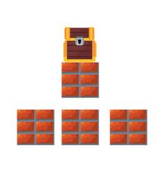 pixel video game vector image