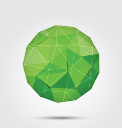 polygon circle background green vector image