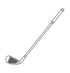 putter for golfgolf club single icon in outline vector image