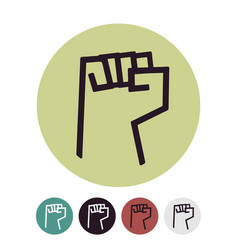 raised fist logo on a white vector image