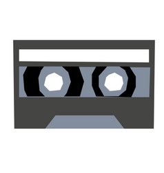Record tape flat on white vector
