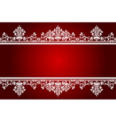 red and white background vector image