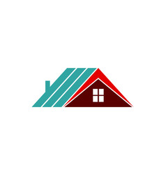 roof logo vector image