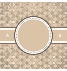 Rounded retro vintage label on starry background vector