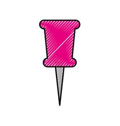 school push pin thumbtack side view tool vector image