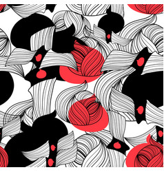seamless abstract pattern unusual graphic vector image