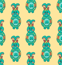 Seamless pattern with Easter bunny-7 vector