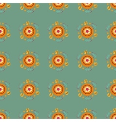 Seamless pattern with in Russian Dymkovo style vector image