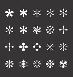 Set asterisks vector