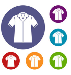 Shirt polo icons set vector