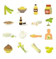 Soy Food Icons vector