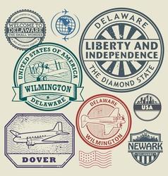 Stamp set delaware vector