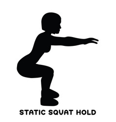 static squat hold squat sport exersice vector image