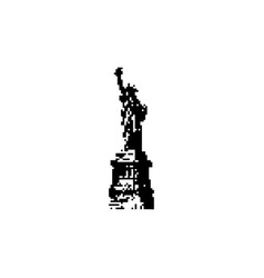 statue of liberty new york landmark black 8 bit vector image