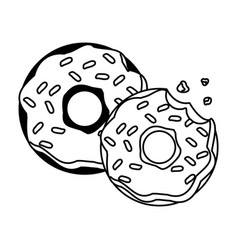 sweet donuts food vector image