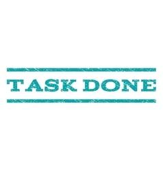 Task done watermark stamp vector