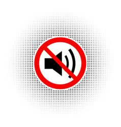 the no sound icon vector image