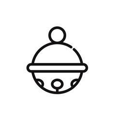 toy bell icon vector image