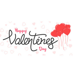 valentine day text banner vector image