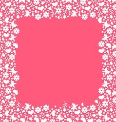 Valentine frame pink vector