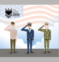veterans day to celebrate army forces vector image