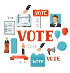 Vote political elections concept vector