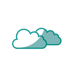 weather clouds symbol vector image
