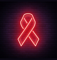 World aids day red ribbon for hiv infection from vector