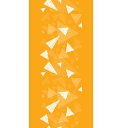 Yellow textured triangles vertical border seamless vector image