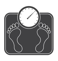 Bathroom scales icon vector
