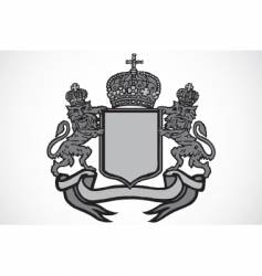 crest and crown vector image vector image