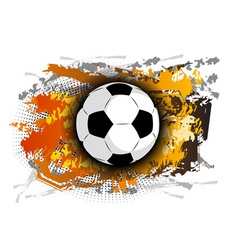 football theme on the background vector image vector image