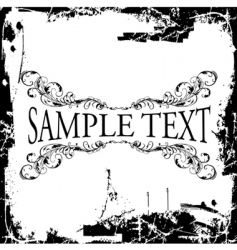 grunge decorative vintage ornate banner vector image