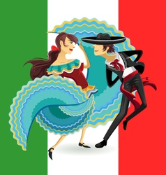 Jarabe Mexico National Dance Mexican Hat Dance vector image vector image