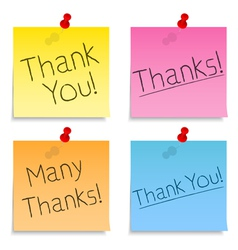 Thank You Post-it Notes vector image vector image