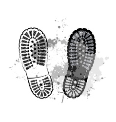 Black trail foot vector