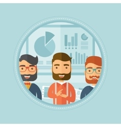 Business people applauding at presentation vector