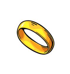 golden ring vintage black engraving vector image vector image