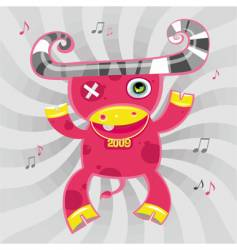 music cow symbol of 2009 vector image vector image