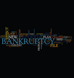 the new bankruptcy law will soon be in effect vector image vector image