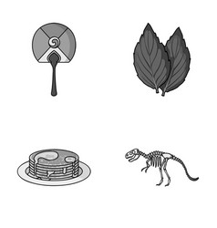 travel cooking and other monochrome icon in vector image vector image