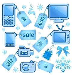web sale elements vector image
