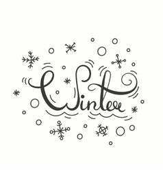 Winter Poster with Lettering vector image vector image
